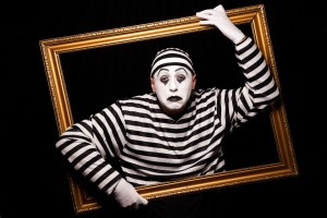 Portrait of a mime